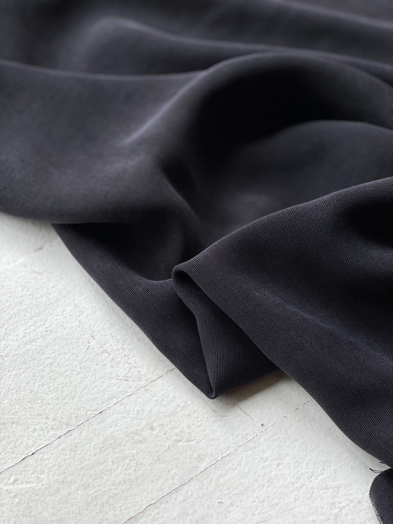 1/2m Ribbed Rayon Cupro -  Black