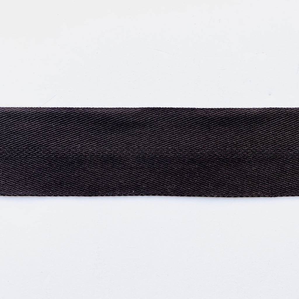 2inch Cotton & Polyester Webbing - 1m - Black