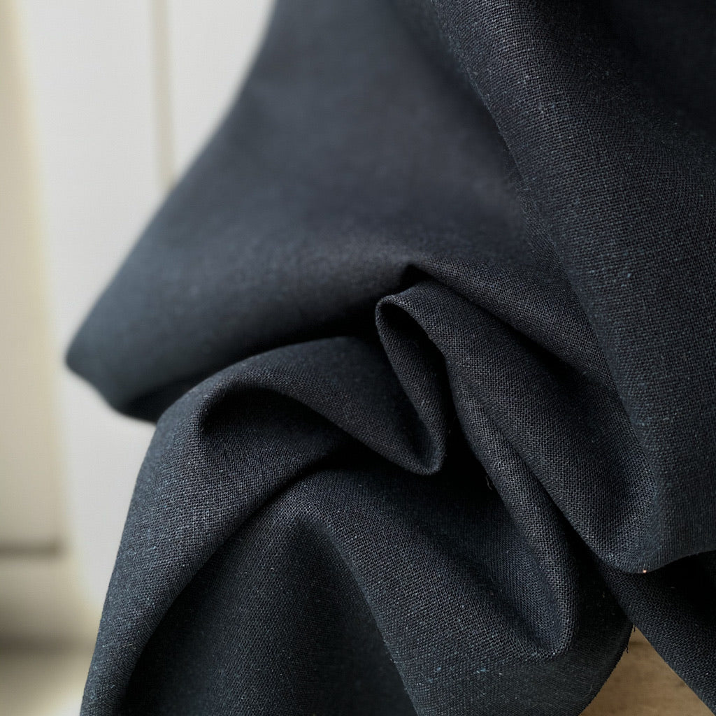 1/2m Robert Kaufman - Brussels Washer - Linen Rayon - Navy