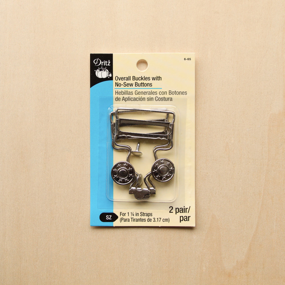 "Dritz 1 "" No-Sew Overall Buckles - Nickel"