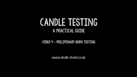 Video 4 - Preliminary Burn Testing
