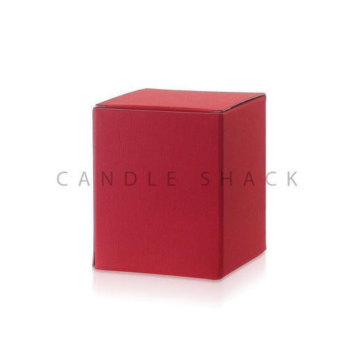 Candle Shack Candle Box Ruby Red Laminated Folding Box for 27cl Jars