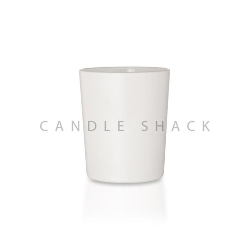 Candle Shack Candle Jar 27cl Glass - Externally White Matt