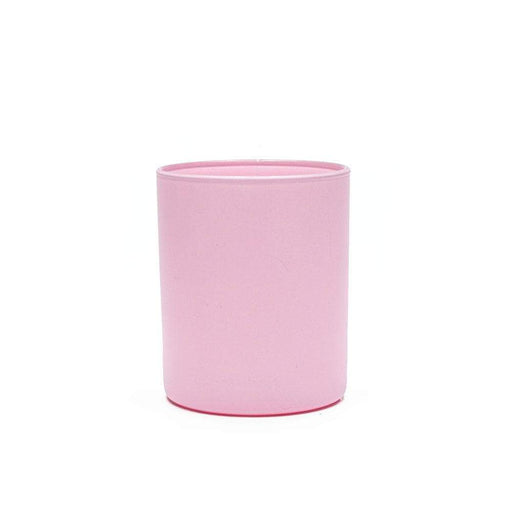 Candle Shack Candle Jar 30cl Karen Glass - Externally Baby Pink Matt