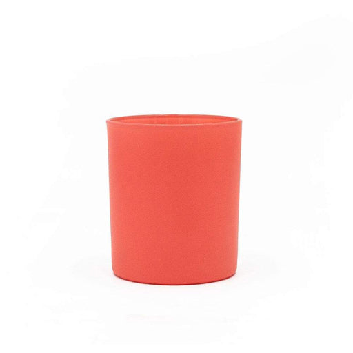 Candle Shack Candle Jar 30cl Karen Glass - Externally Coral Matt