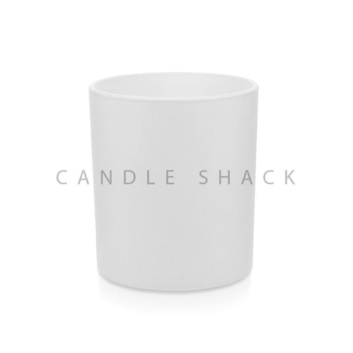 Candle Shack Candle Jar 30cl Karen Glass - Externally White Matt