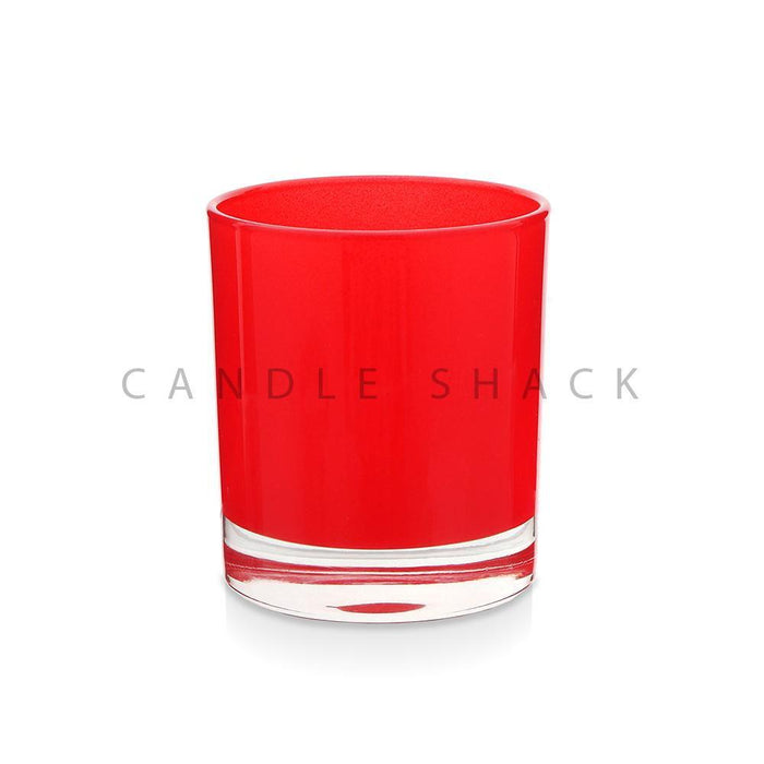 Candle Shack Candle Jar 30cl Karen Glass - Internally Red Frosted