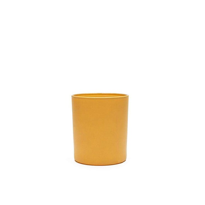 Candle Shack Candle Jar 9cl Votive Glass - Externally Yellow Matt