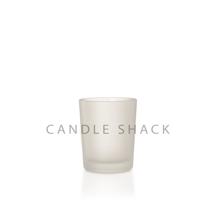 Candle Shack Candle Jar 9cl Votive Glass - Frosted Finish