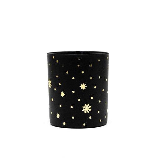 Candle Shack Candle Jar Black Matt 30cl with Gold Stars