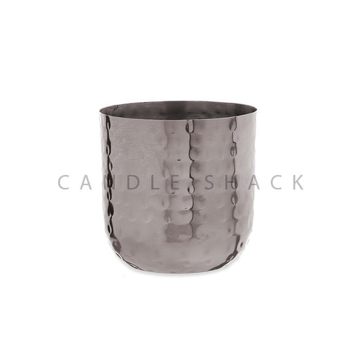 Candle Shack Candle Jar Small Dimpled Candle Container - Black Nickel Finish