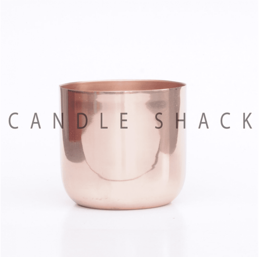 Small Smooth Candle Container - Copper Finish