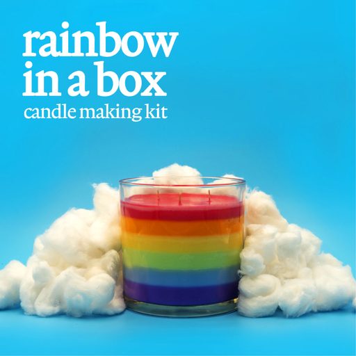 Candle Shack Candle Making Kit Candle Kit - Rainbow in a Box