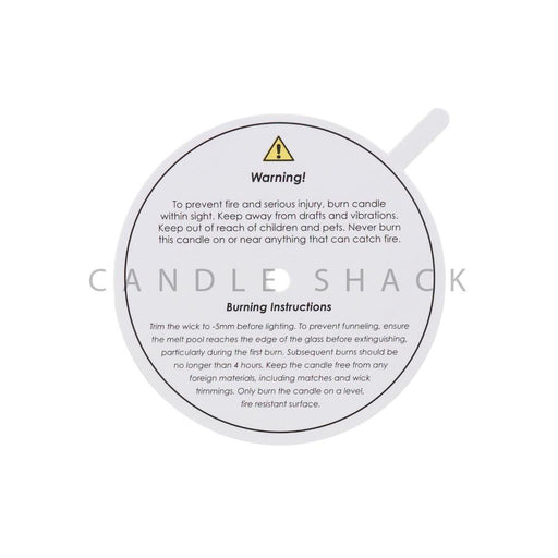 Candle Shack Dust Cover 72mm White Dust Cover