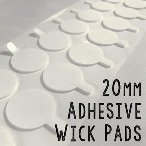 Candle Shack Wick 20mm Adhesive Wick Pads