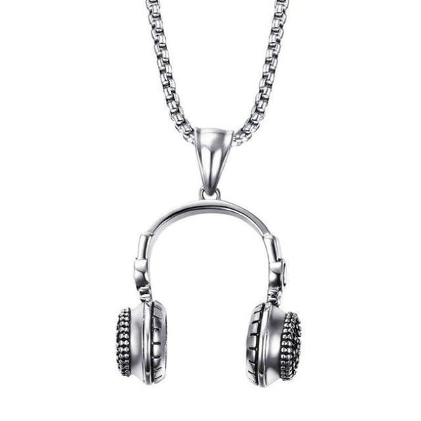 Headphone Necklace - Silver