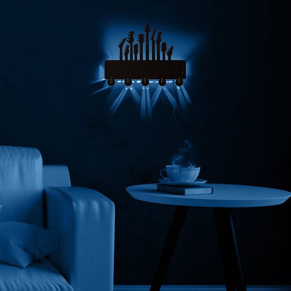 Guitar LED Luminous Wall Hook