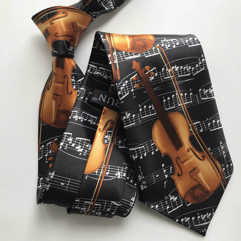 Men's Violin Necktie