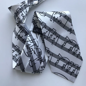 Men's Music Note Tie