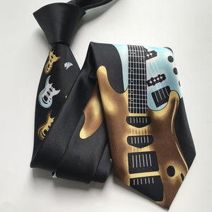 Men's Electric Guitar Necktie