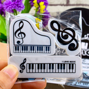 Musical Eraser Pack (3 Pc)