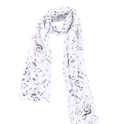 Delicate Music Note Pashmina Scarf