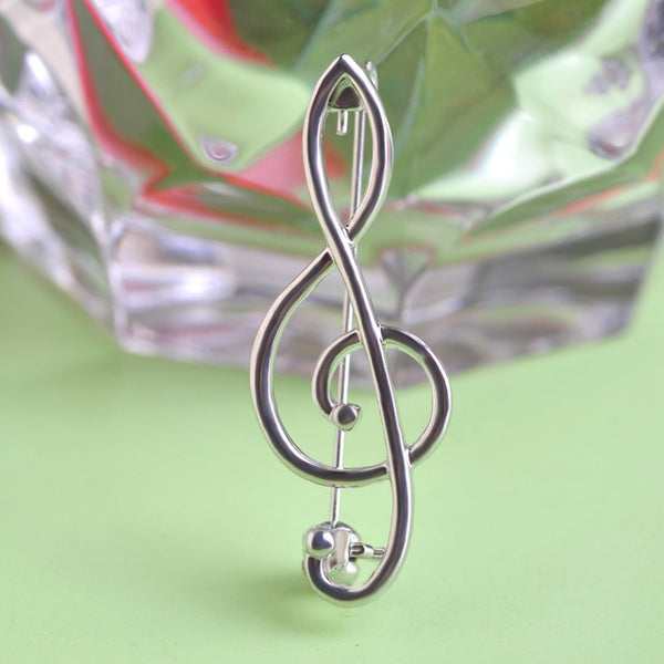 Treble Clef Brooch