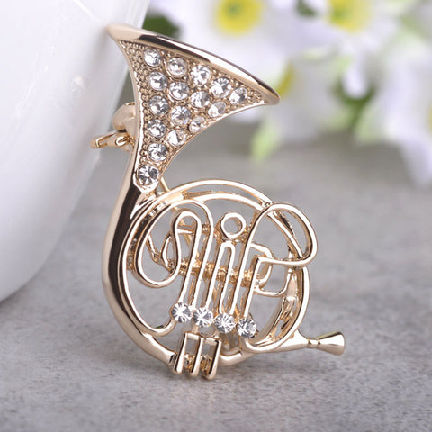 French Horn Brooch