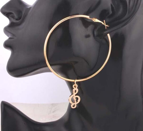 Treble Hoop Earrings