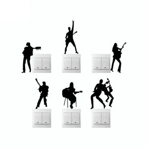 Light Switch Musician Wall Stickers (6PC)