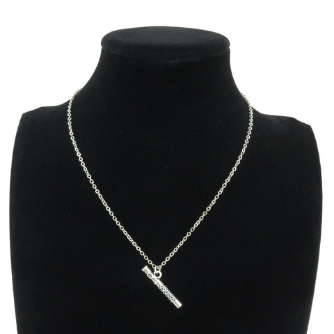 Silver Flute Necklace