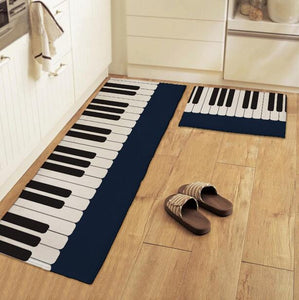 Piano Keys Non-slip Kitchen Mat