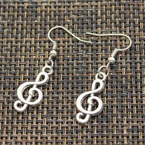 Silver Treble Earrings