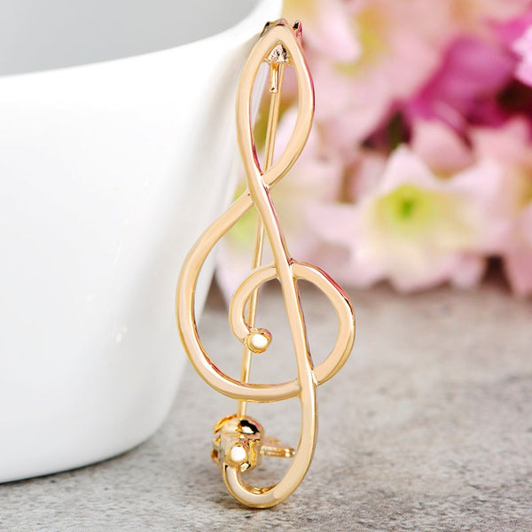 Minimal Treble Brooch