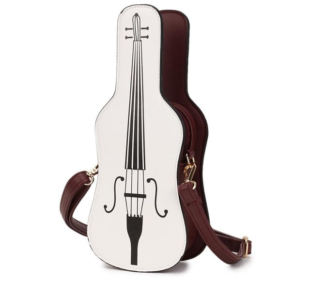 Violin Leather Shoulder Bag