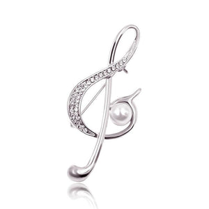 Silver Treble Brooch