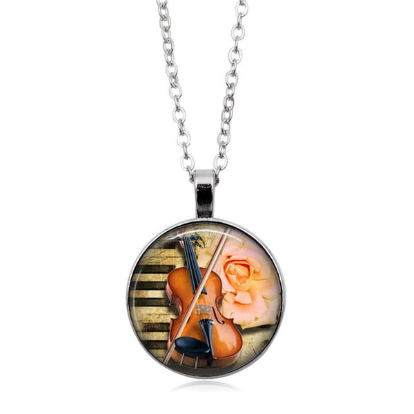 Violin Necklace with Glass Casing