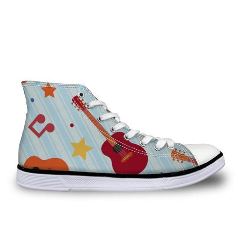 Women's Guitar Canvas High Top