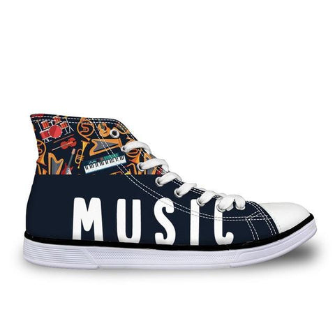 Women's Music Canvas High Top
