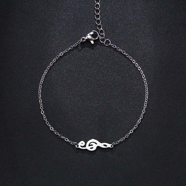 Treble Clef Necklace Bracelet and Earring Set