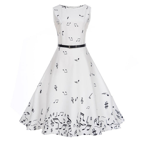 Falling Music Notes Dress