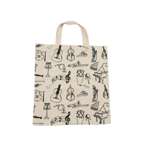 Music Instrument Tote Bag