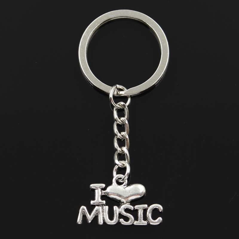 I Love Music Keychain