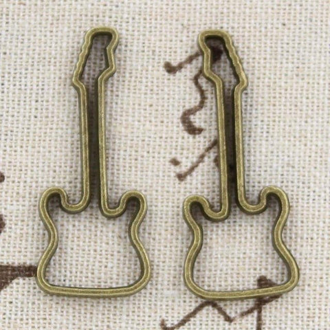 Guitar Silhouette Charm (4PC)