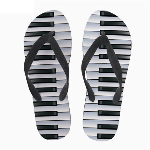 Women's Piano Keys Flip Flops