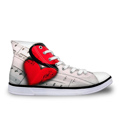 Heart Music Score Women's Sneakers