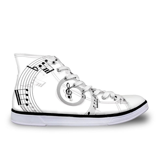 Musical Note Women's Sneakers