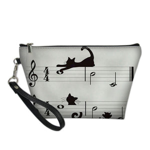 Cat Music Cosmetic Bag