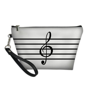 Treble Clef Music Cosmetic Bag
