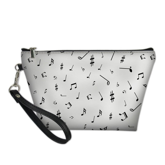 Minimalist Music Notes Cosmetic Bag